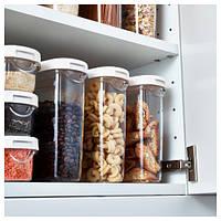 ИКЕА/365+ Контейнер+крышка д/сухих продуктов, прозрачный, белый, 1.3 л 80066723 IKEA, ИКЕА, IKEA 365+
