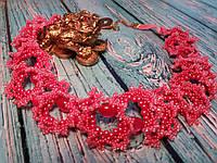 Колье чешский бисер, бусины ручной работы
