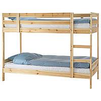 МИДАЛ Каркас 2-ярусной кровати, сосна, 90x200 см 00102452 IKEA, ИКЕА, MYDAL