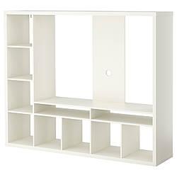 ЛАППЛАНД Тумба под ТВ, белый, 183x147 см 80285155 IKEA, ИКЕА, LAPPLAND