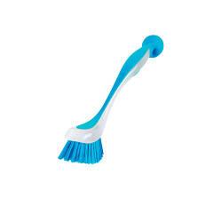 ПЛАСТИС Щетка для мытья посуды на присоске, голубой 301495561 IKEA, ИКЕА, PLASTIS