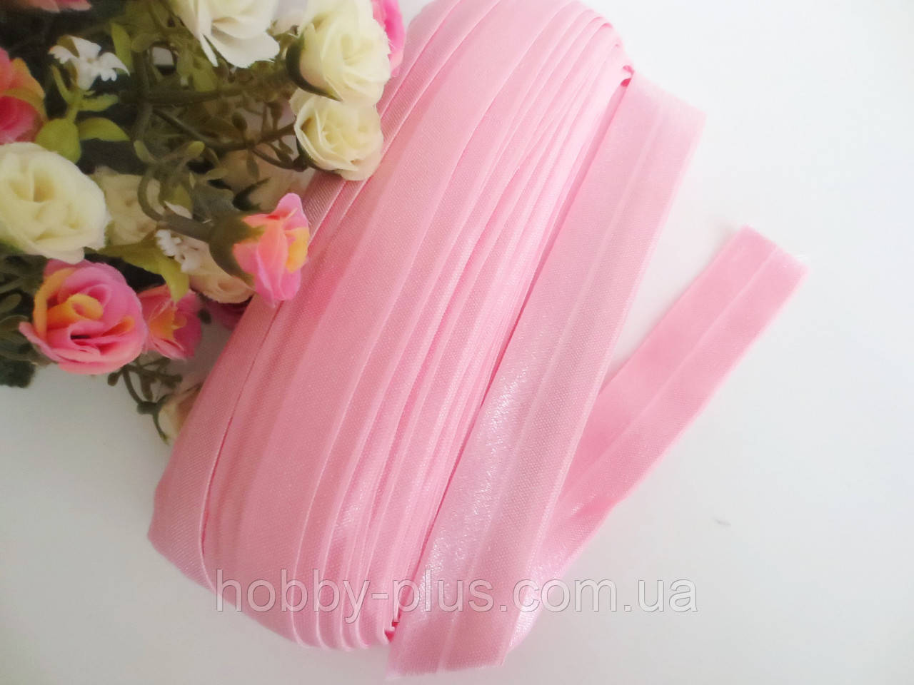 Бейка-резинка для повязок, светло-розовая, 25 мм