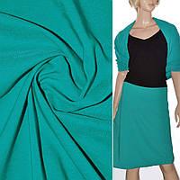 Ткань для платья поплин стрейч бирюзово зеленый