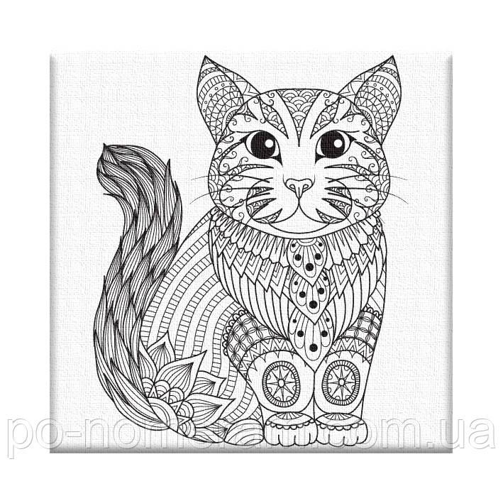 раскраска антистресс котёнок Ar04 20 х 20 см Artstory без коробки купить киев на Po Nomeram