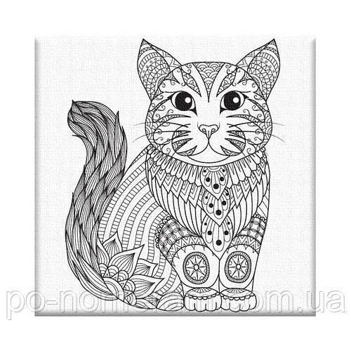 раскраска антистресс котёнок Ar04 20 х 20 см Artstory без коробки