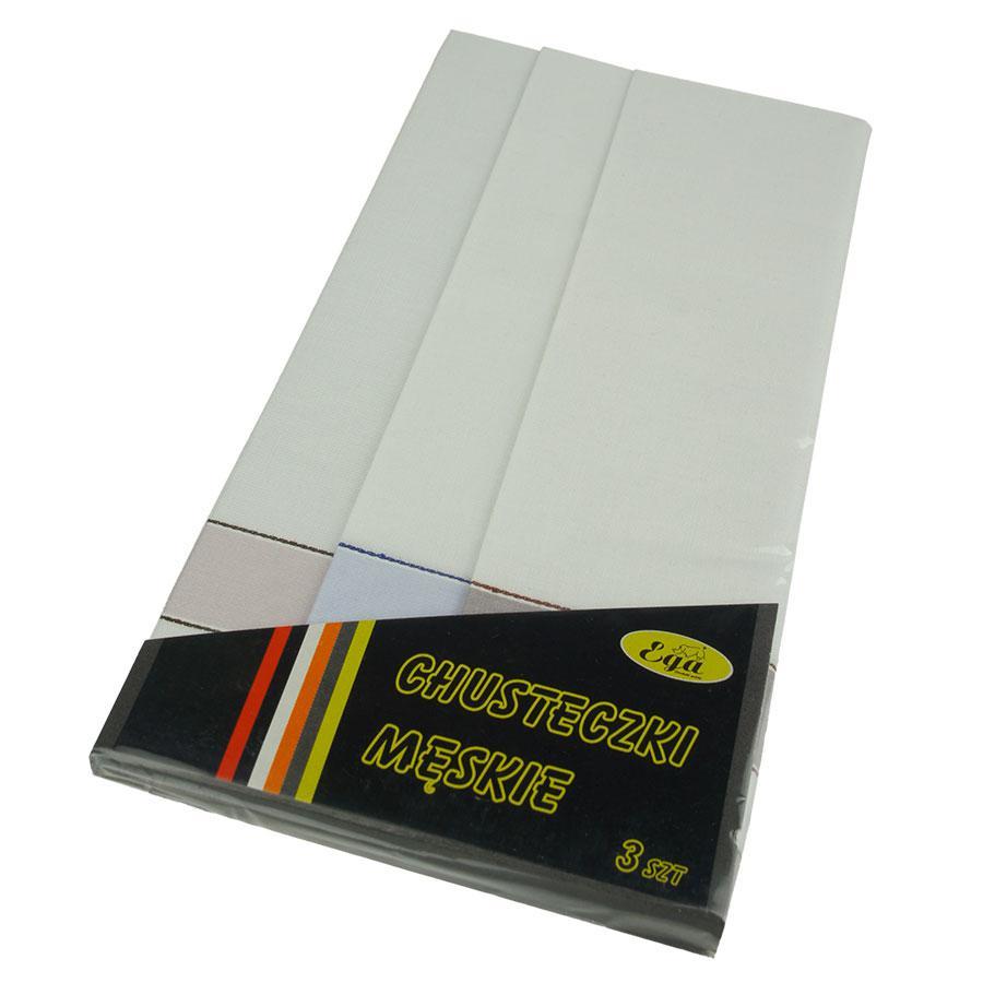 Набір світлих носових хусток для чоловіків Ega 3 шт 0105