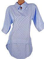 Демисезонное платье в горошек 42-48 (в расцветках)