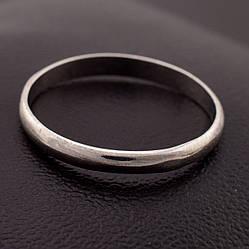 Серебряное Обручальное кольцо, размер 18, серебро 1.6 г