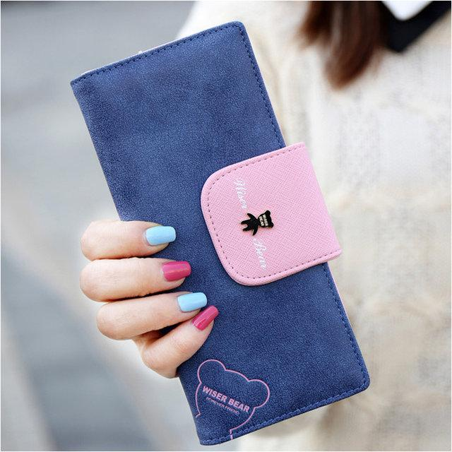 Жіночий гаманець Viser Bear. Нубук. Красиві і стильні гаманці, 5 кольорів