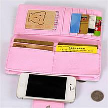 Жіночий гаманець Viser Bear. Нубук. Красиві і стильні гаманці, 5 кольорів, фото 3