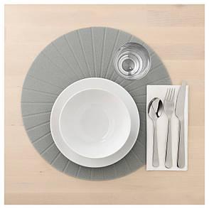 ПАННО Салфетка под приборы, круглый, серый, 37 см 60351146 IKEA, ИКЕА, PANNA, фото 2