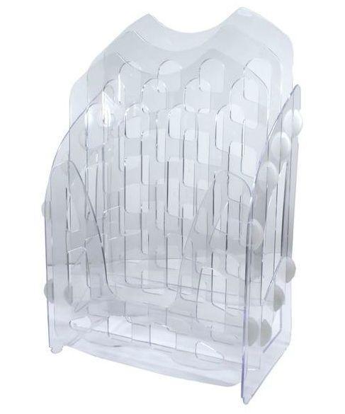 Лоток для бумаги горизонтальный/ вертикальный АРНИКА пластик 3 яруса 82348/82349/82350_Прозорий