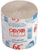 Туалетная бумага Обухов серая 65м