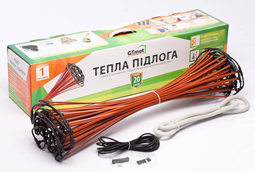 Стержневой инфракрасный теплый пол GTmat S-110, 1250 до 1700 Вт.10 м.кв., гарантия 20 лет, произведено в Кореи
