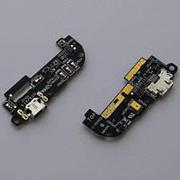 Шлейф Asus ZenFone 2 (ZE500CL) коннектора зарядки с микрофоном и компонентами