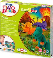 Глина полимерная FIMO kids набор 4шт. Динозавр 8039 07 LZ