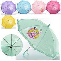 Зонтик детский MK 0208-1  длина55см., трость66см.,диам.85см.,спица49см.,ткань,рисун,6видов