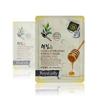 Корейская тканевая маска с с маточным молочком Shelim Hydrating Essence Mask Royal jelly, фото 1