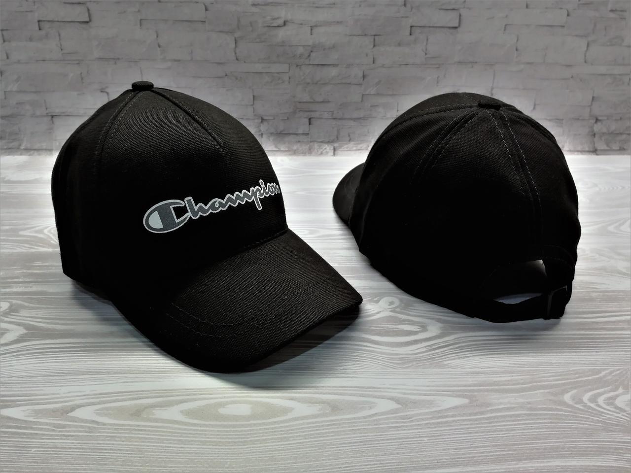 Кепка бейсболка блайзер Champion черная  продажа 36a83d8ba4ebd