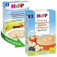 Молочная каша HiPP Кукурузная с фруктами  с пребиотиками  250 г