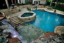 Бассейн Облицованный Натуральным Камнем. Быстро Построим Бассейн с Искусственным Водопадом под Открытым Небом