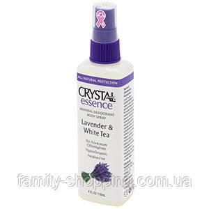 Натуральный дезодорант-спрей для тела Кристалл с экстрактами лаванды и белого чая, 66 г (США)