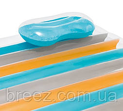 Пляжний надувний матрац Intex 198 х 160 см, фото 3