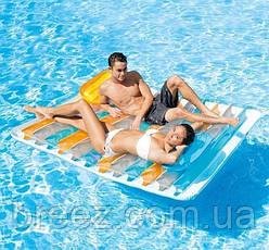 Пляжный надувной матрас Intex 198 х 160 см, фото 2