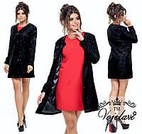Стильный женский пиджак из гипюра на атласном модкладе