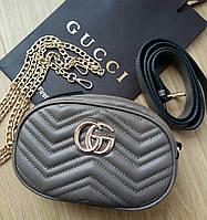 Сумочка Gucci Marmont капучино, эко-кожа, фото 1