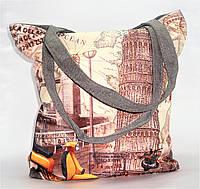 """Женская пляжная сумка из ткани """"Башня""""  WUU-110003, фото 1"""