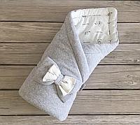 """Велюровый конверт-одеяло на выписку из роддома """"Маленькие стиляжки"""" , фото 1"""