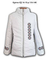 Куртка для девочки с вышивкой