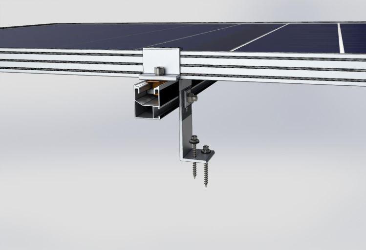 Система креплений солнечных батарей для размещения на крыше (битумной черепице)