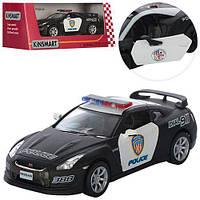 "Машинка KT5340WP ""Kinsmart. Nissan GT-R R35 (Police)"", 12 см (Y)"