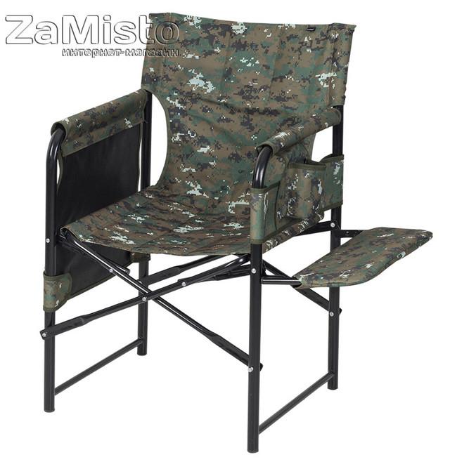 Кресло складное Рыбацкое камуф. (полка - ткань) КХ-10