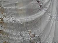 Тюль лен  «Зита» белого цвета  pr-tu3089
