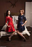 Женское платье из кожзама Poliit 8303, фото 1