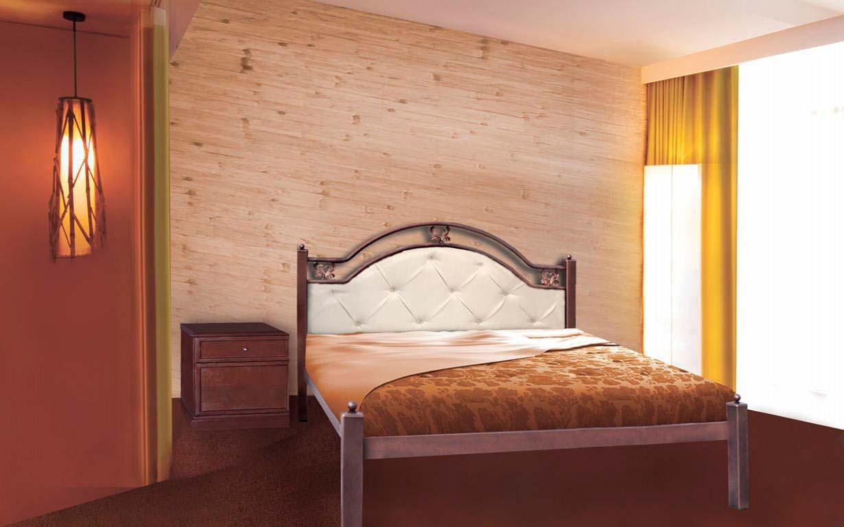 ✅Металлическая кровать Эсм ТМеральда Люкс 140х190 см ТМ Металл-Дизайн