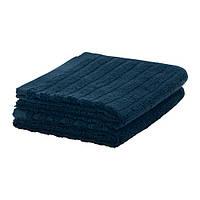 ВАГСЙОН Полотенце для рук, темно-синий, 30x50 см, 2 шт 60353602 IKEA, ИКЕА, VÅGSJÖN