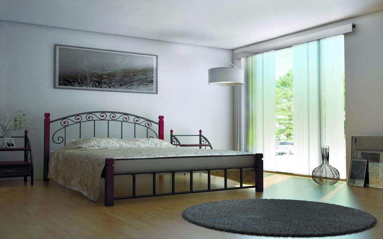 ✅Металлическая кровать Афина 140х190 см ТМ Металл-Дизайн