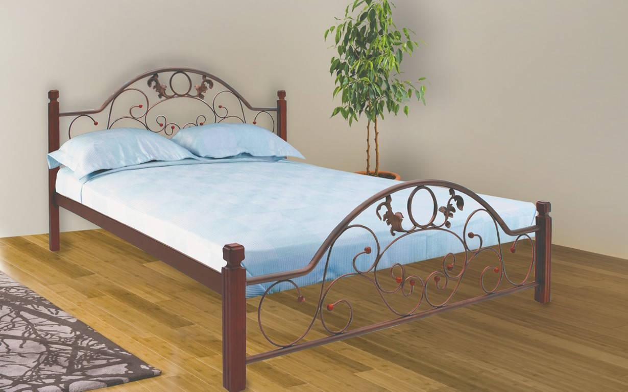 ✅Металлическая кровать Франческа Вуд 140х190 см ТМ Металл-Дизайн