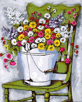 AS0122 Набор-раскраска по номерам Полевые цветы, фото 2