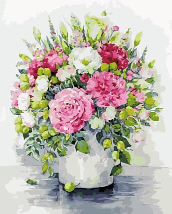 AS0125 Набор-раскраска по номерам Изящные цветы, фото 2