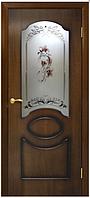 Дверное полотно Виктория СС цветок орех лесной