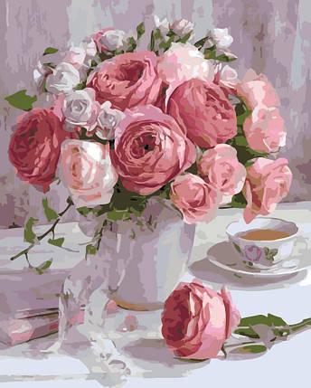 AS0126 Набор-раскраска по номерам Нежные розы, фото 2