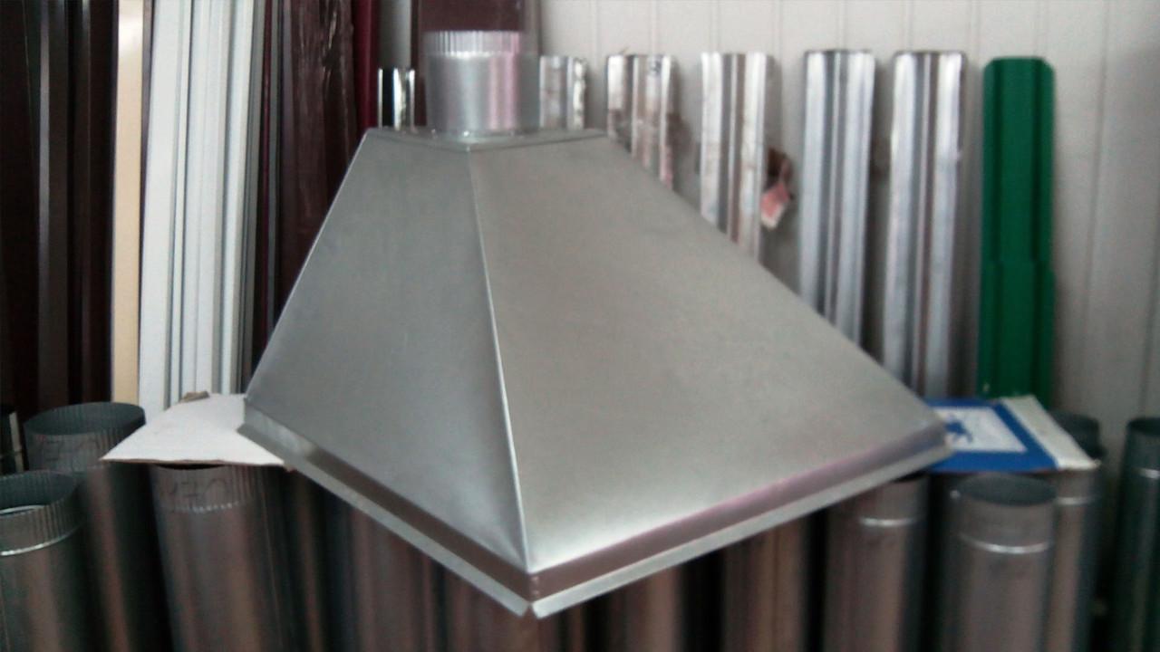 Зонт кухонный вытяжной пристенный из оцинкованной стали без жироулавливателя