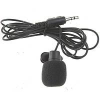 Микрофон  3,5 мм с клипсой (петличный микрофон) для камеры, фотоаппарата