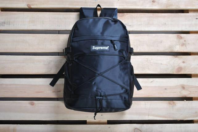 Рюкзак реплика Supreme / суприм черный /саприм черный, фото 2