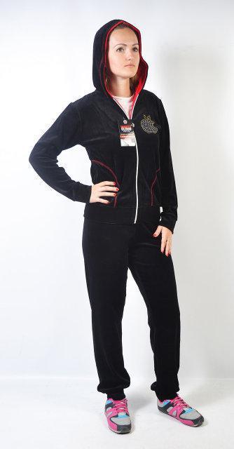 5bde8d18 Женский брендовый спортивный костюм - Apple - (черный) - Интернет магазин производитель  женской одежды